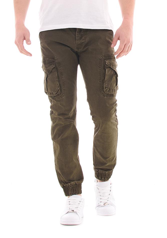 Ανδρικό Chino Enos Army Λαδί αρχική ανδρικά ρούχα επιλογή ανά προϊόν παντελόνια παντελόνια chinos