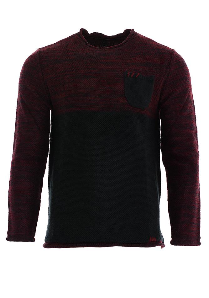 Πλεκτή Μπλούζα Stitches Bordeaux αρχική ανδρικά ρούχα πλεκτά