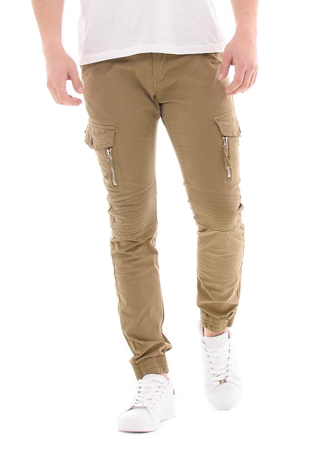 Ανδρικό Chino Παντελόνι X-Feel Khaki αρχική ανδρικά ρούχα επιλογή ανά προϊόν παντελόνια παντελόνια chinos