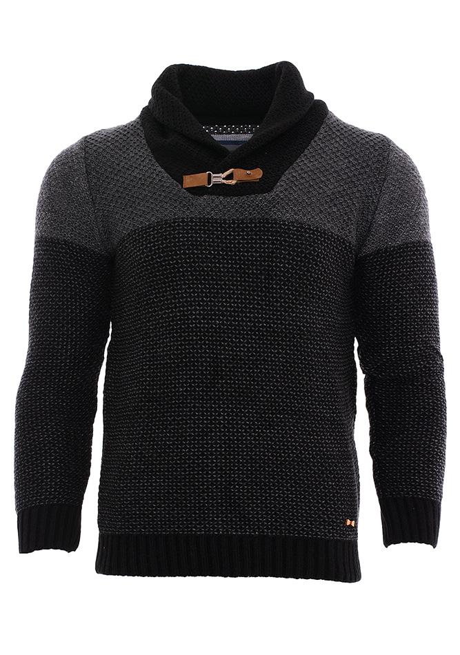 Πλεκτή Μπλούζα Zen Button D.Grey αρχική ανδρικά ρούχα πλεκτά