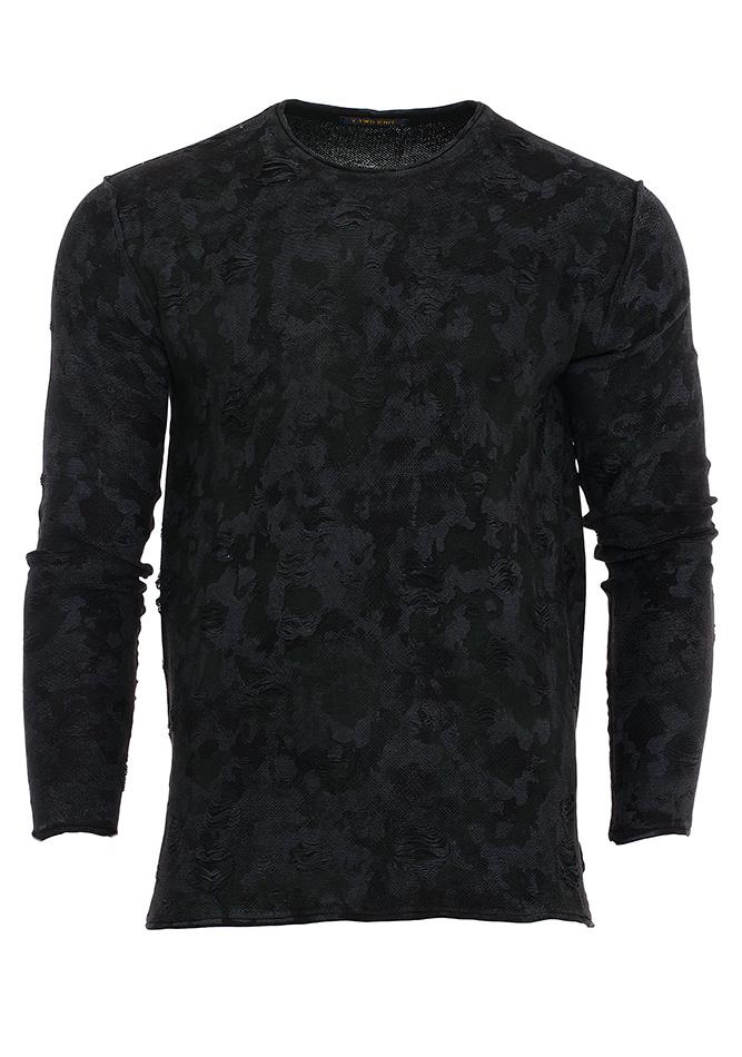 Ανδρική Μπλούζα Y-Two Black αρχική ανδρικά ρούχα μπλούζες