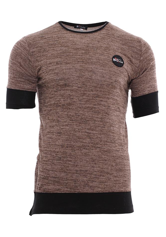 Ανδρική Μπλούζα Brown Zip αρχική ανδρικά ρούχα μπλούζες