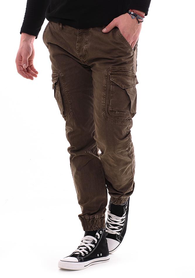 Ανδρικό Chino Enos Khaki αρχική ανδρικά ρούχα επιλογή ανά προϊόν παντελόνια παντελόνια chinos