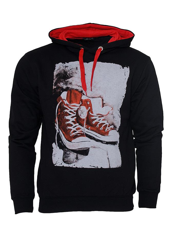 Ανδρικό Φούτερ Sneakers Black αρχική ανδρικά ρούχα φούτερ