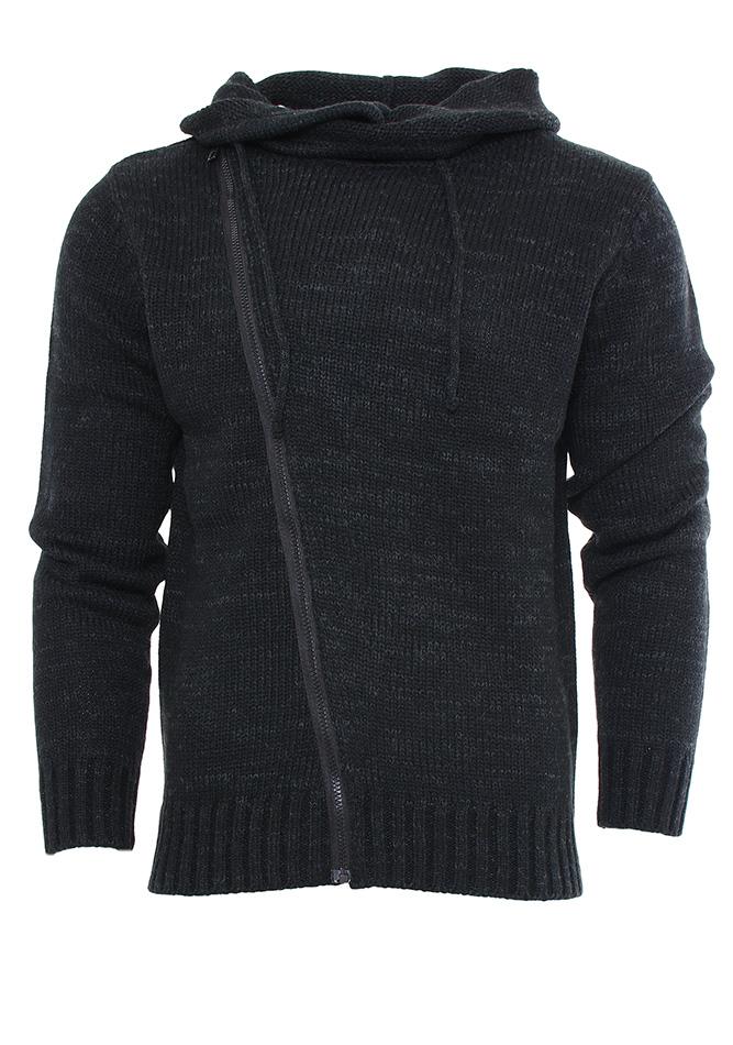 Ανδρική Πλεκτή Μπλούζα Black αρχική ανδρικά ρούχα