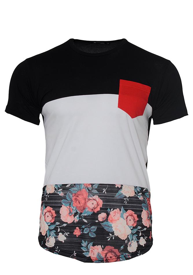 Ανδρικό T-shirt Red Pocket-Άσπρο αρχική ανδρικά ρούχα επιλογή ανά προϊόν t shirts