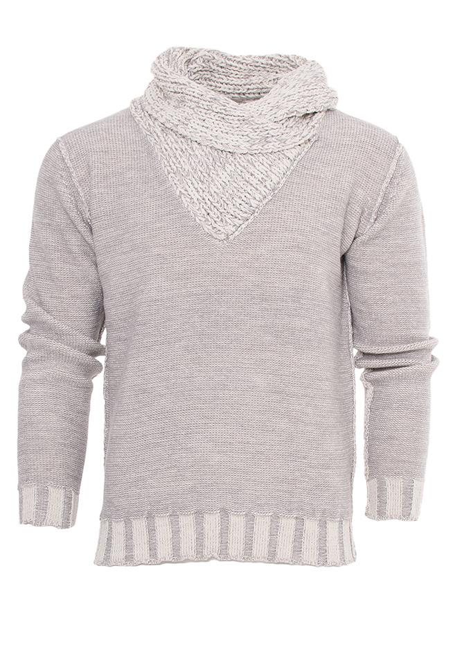 Ανδρική Πλεκτή Μπλούζα Traxx D.Grey αρχική ανδρικά ρούχα πλεκτά