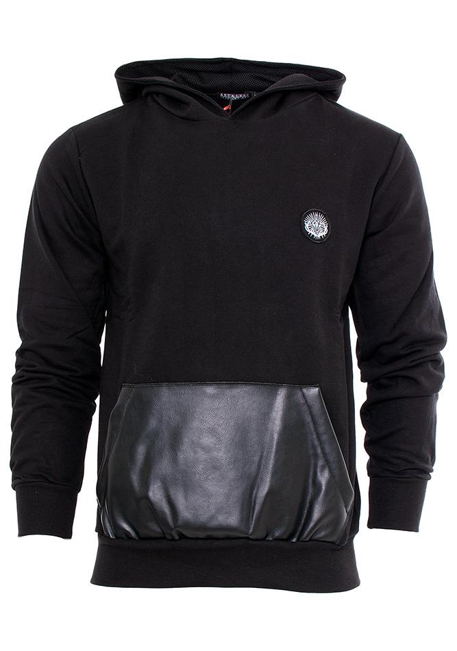 Ανδρική Μπλούζα Black Leather αρχική ανδρικά ρούχα φούτερ