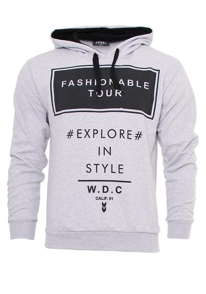 Ανδρικό Φούτερ In Style Grey αρχική ανδρικά ρούχα φούτερ