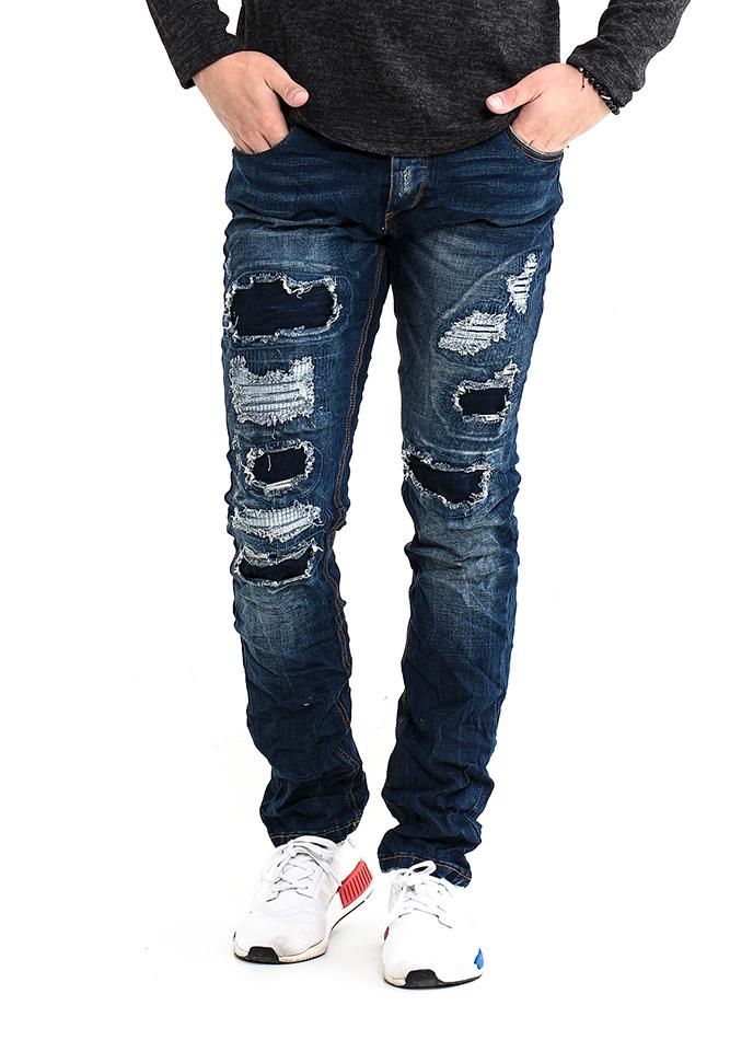 Ανδρικό Jean Flex D.Blue αρχική ανδρικά ρούχα επιλογή ανά προϊόν παντελόνια παντελόνια jeans