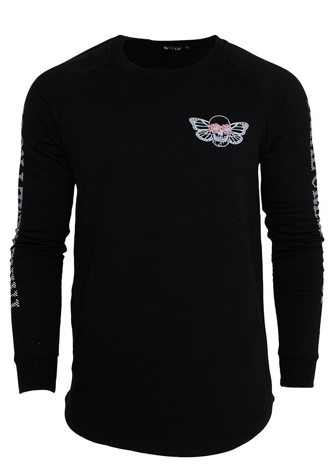 Aνδρικό Φούτερ Skull Butterfly Black αρχική ανδρικά ρούχα φούτερ