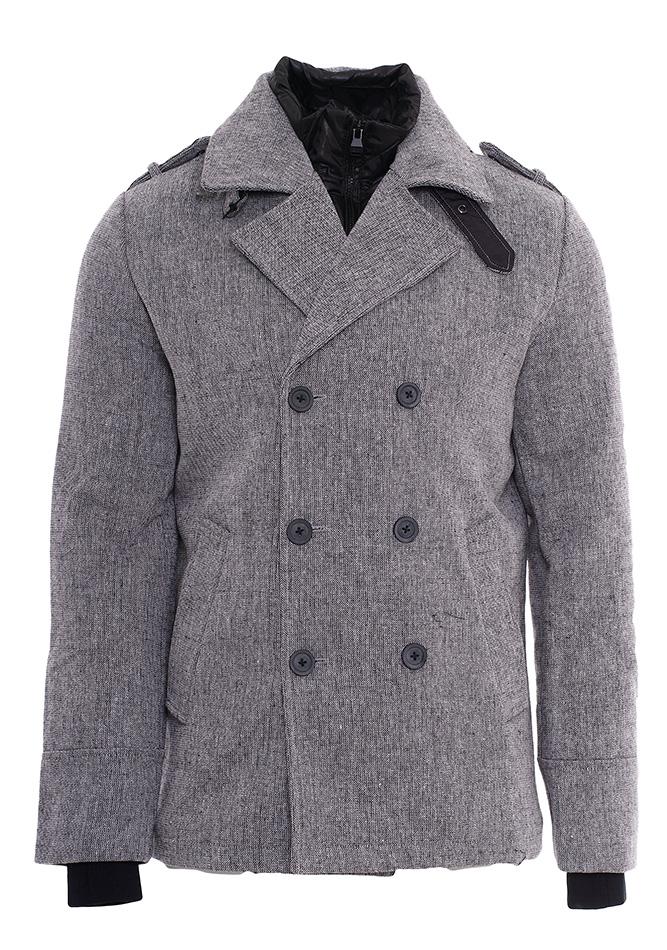 Ανδρικό Παλτό Biston Grey αρχική ανδρικά ρούχα επιλογή ανά προϊόν μπουφάν