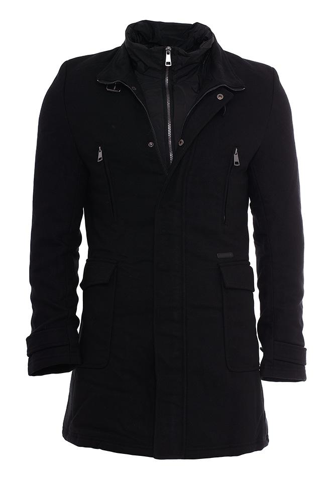 Ανδρικό Παλτό Biston Black Rec αρχική ανδρικά ρούχα επιλογή ανά προϊόν μπουφάν