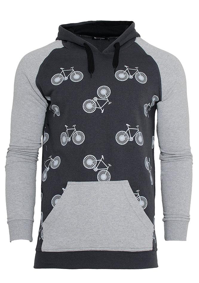 Aνδρικό Φούτερ Grey Bicycle αρχική ανδρικά ρούχα φούτερ