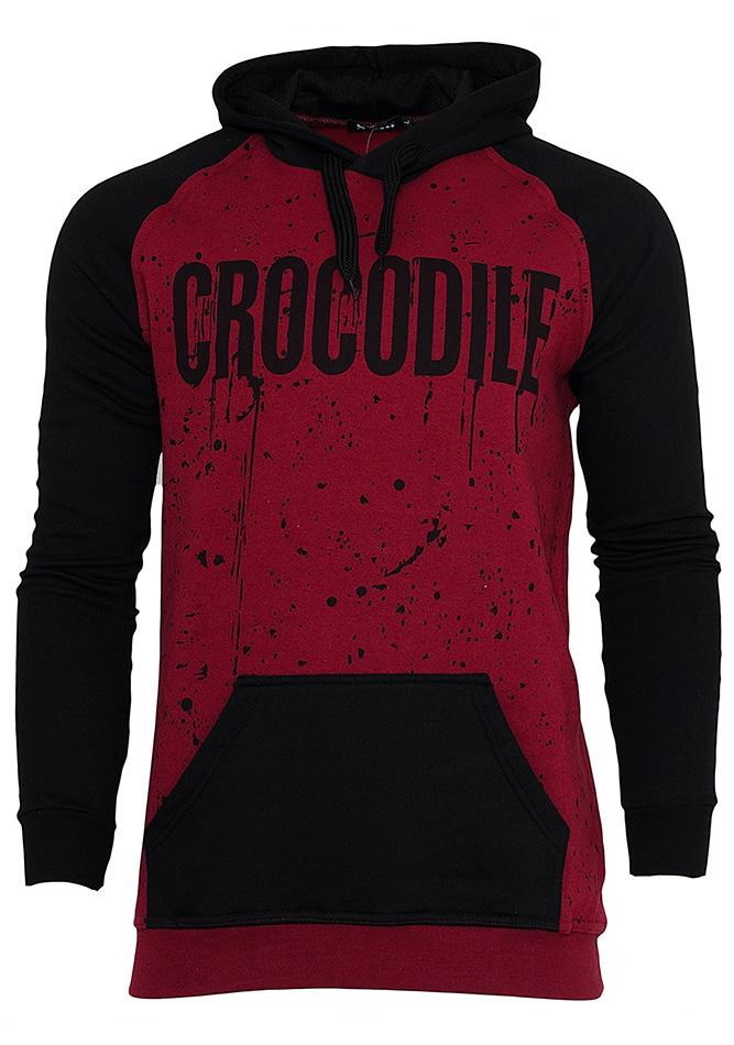 Aνδρικό Φούτερ Crocodile Bordo αρχική ανδρικά ρούχα φούτερ