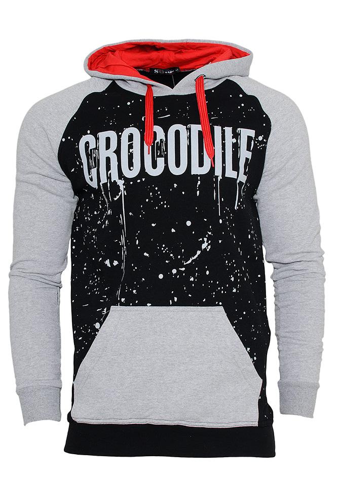 Aνδρικό Φούτερ Crocodile Black αρχική ανδρικά ρούχα φούτερ
