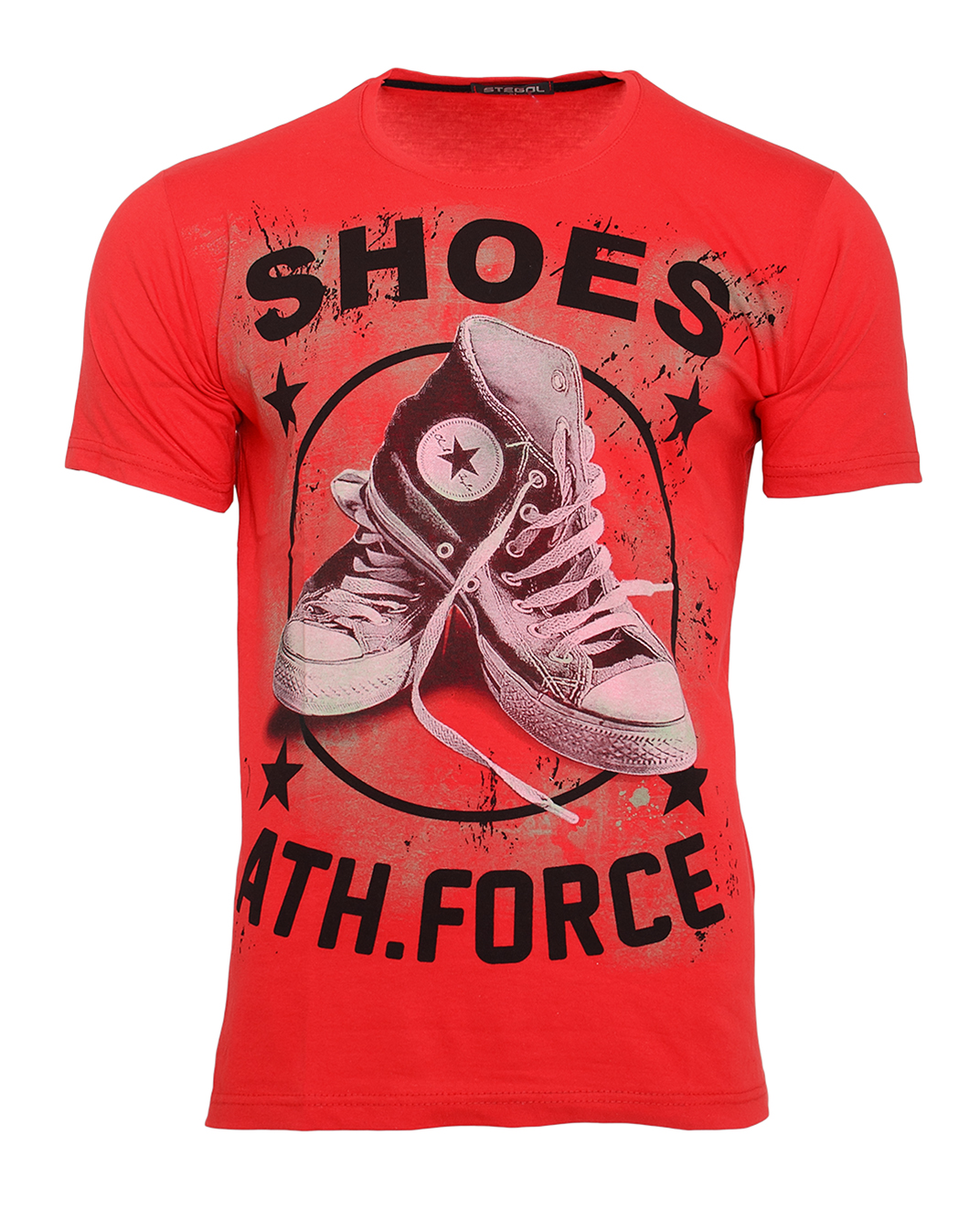 Ανδρικό T-shirt Shoes-Κόκκινο αρχική ανδρικά ρούχα t shirts