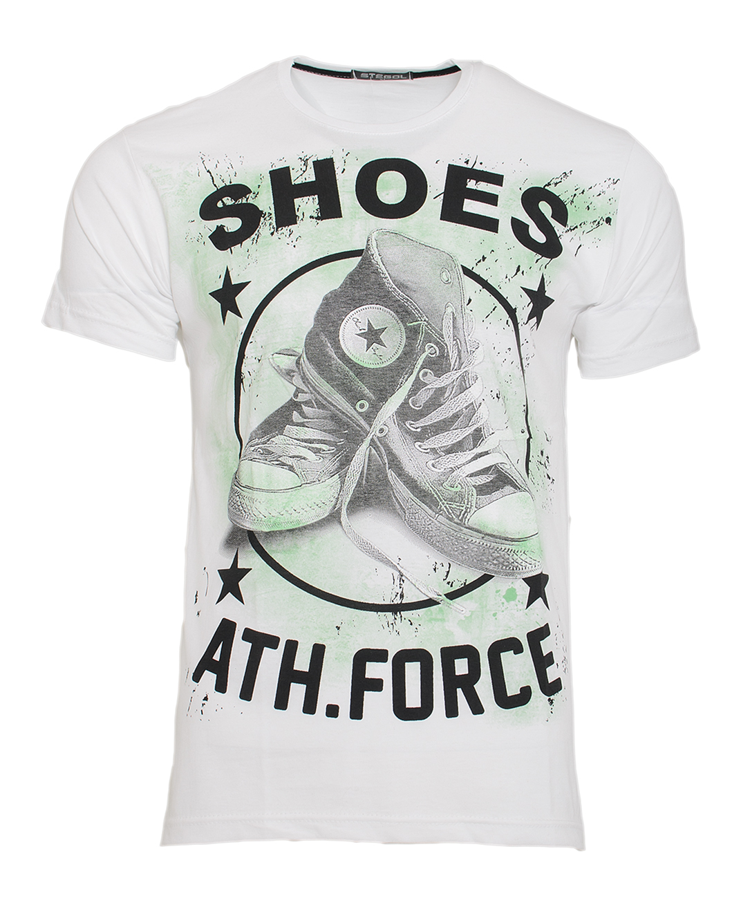 Ανδρικό T-shirt Shoes-Άσπρο αρχική ανδρικά ρούχα t shirts