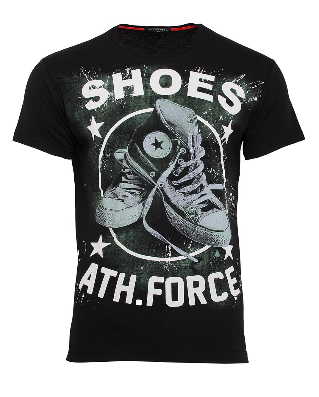 Ανδρικό T-shirt Shoes-Μαύρο αρχική ανδρικά ρούχα t shirts