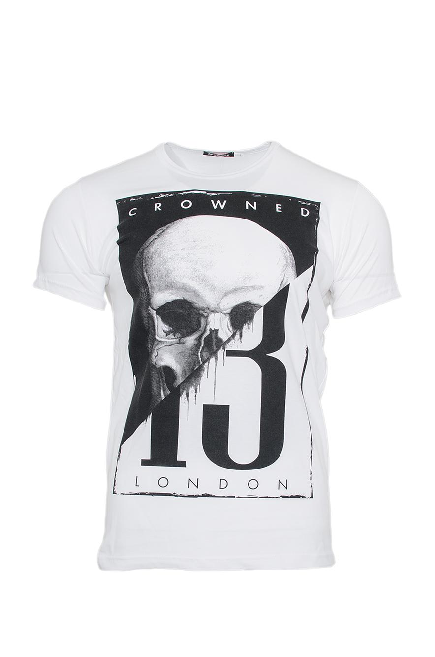 Ανδρικό T-shirt Skull 13-Άσπρο αρχική ανδρικά ρούχα επιλογή ανά προϊόν t shirts