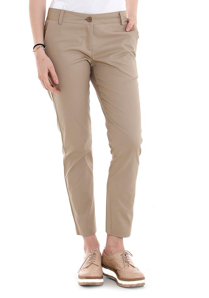 Υφασμάτινο Παντελόνι Be Beige αρχική γυναικεία ρούχα παντελόνια