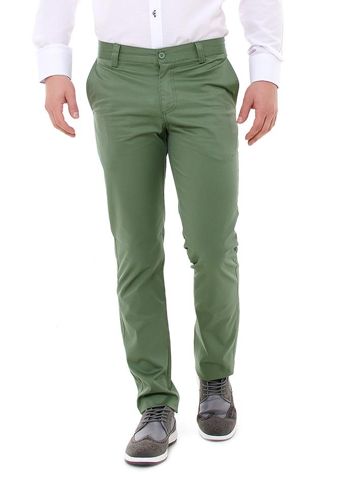 Ανδρικό Chino Παντελόνι Zen Green αρχική ανδρικά ρούχα επιλογή ανά προϊόν παντελόνια παντελόνια chinos