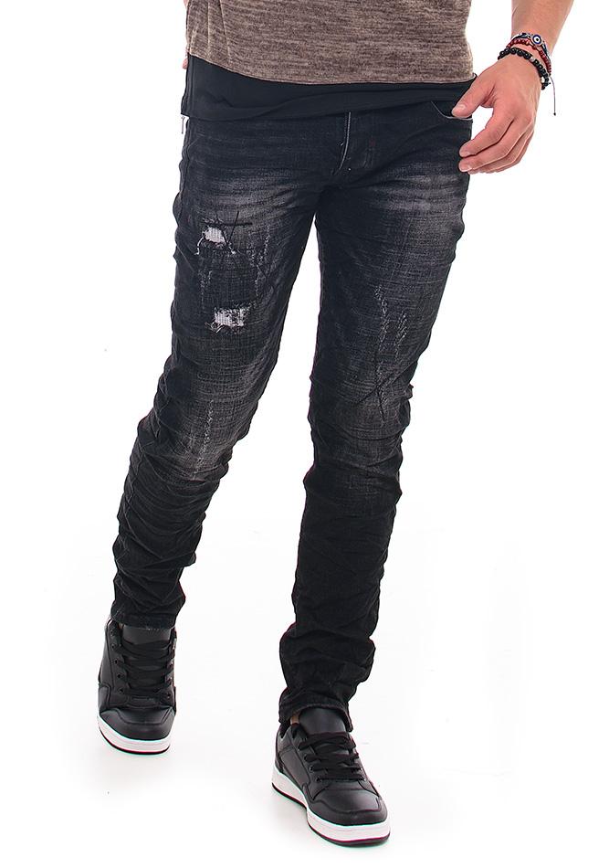 Ανδρικό Jean Y-Two Black αρχική ανδρικά ρούχα επιλογή ανά προϊόν παντελόνια παντελόνια jeans