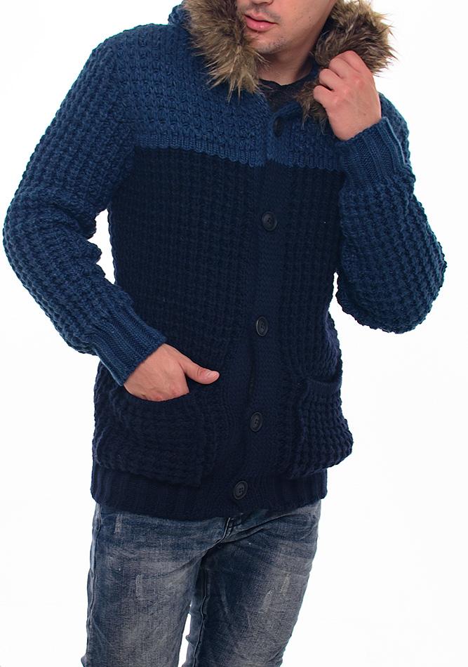Πλεκτή Ζακέτα Zen D.Blue αρχική ανδρικά ρούχα επιλογή ανά προϊόν ζακέτες