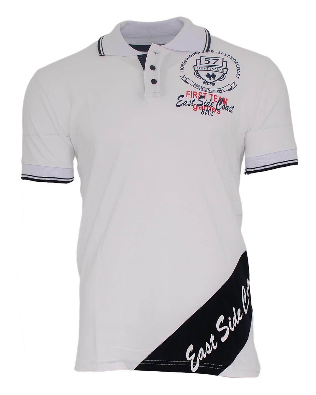 Ανδρικό Polo East Side-Άσπρο αρχική ανδρικά ρούχα polo