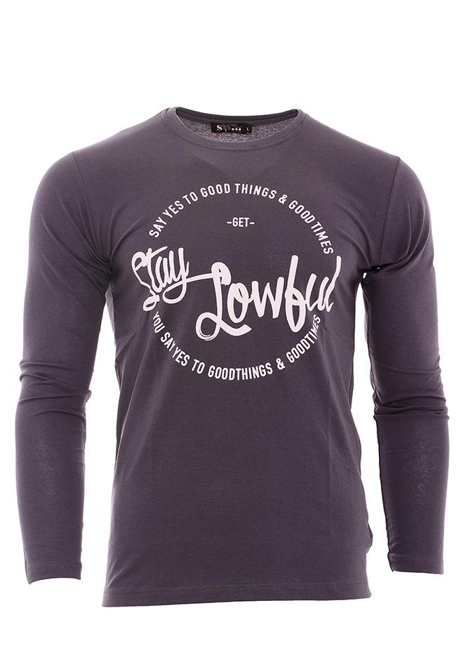 Ανδρική Μπλούζα Stay Grey αρχική ανδρικά ρούχα επιλογή ανά προϊόν μπλούζες