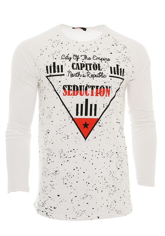 Ανδρική Μπλούζα Seduction White αρχική ανδρικά ρούχα επιλογή ανά προϊόν μπλούζες