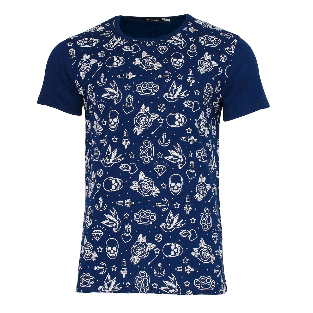 Ανδρικό Τ-shirt Skull Diamond-Ίντιγκο αρχική ανδρικά ρούχα επιλογή ανά προϊόν t shirts