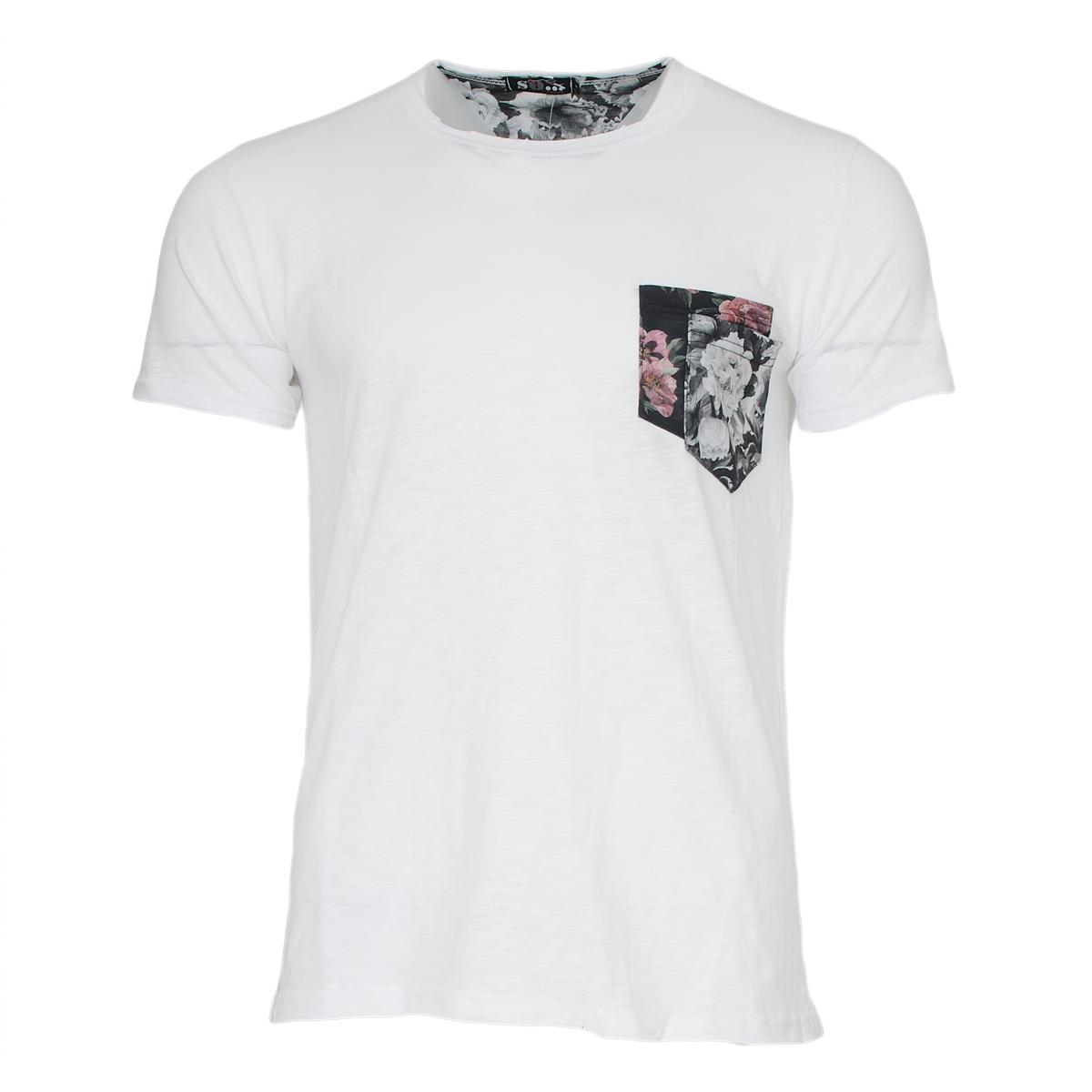 Ανδρικό Τ-shirt Double Pocket-Ίντιγκο αρχική ανδρικά ρούχα επιλογή ανά προϊόν t shirts