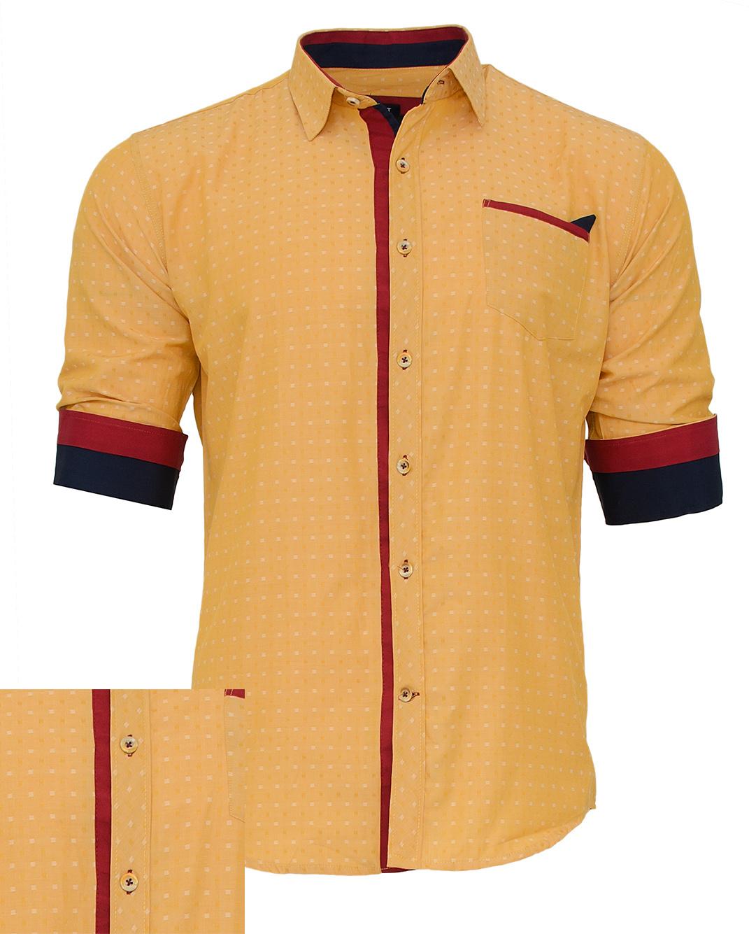 Ανδρικό Πουκάμισο So Fashion Yellow-Κίτρινο αρχική ανδρικά ρούχα πουκάμισα
