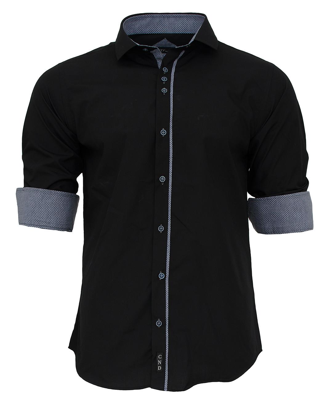 Ανδρικό Πουκάμισο CND Black-Μαύρο αρχική ανδρικά ρούχα πουκάμισα
