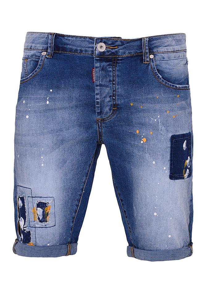 Ανδρική Βερμούδα Jean Revolution αρχική ανδρικά ρούχα επιλογή ανά προϊόν βερμούδες