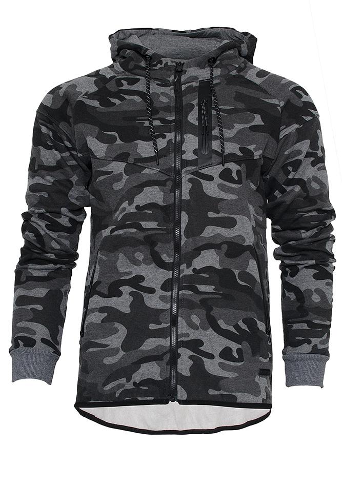 Zακέτα Παραλλαγής Army Life Grey αρχική ανδρικά ρούχα ζακέτες