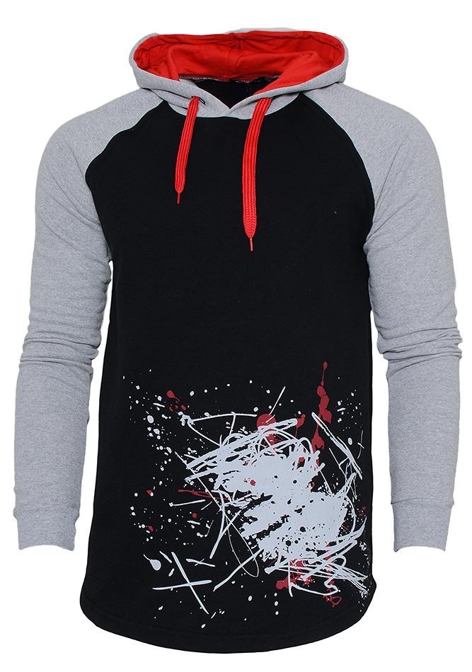 Aνδρικό Φούτερ Spoil Three Black αρχική ανδρικά ρούχα φούτερ
