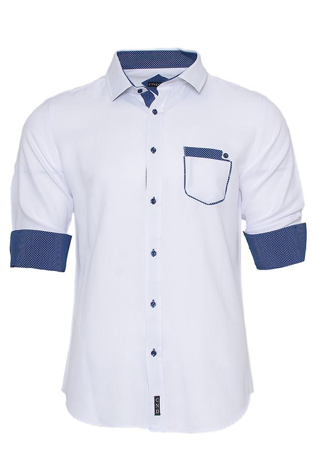 Ανδρικό Πουκάμισο White Pocket αρχική ανδρικά ρούχα πουκάμισα