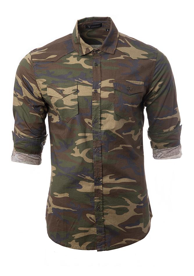 Ανδρικό Πουκάμισο Chromosome Army αρχική ανδρικά ρούχα επιλογή ανά προϊόν πουκάμισα