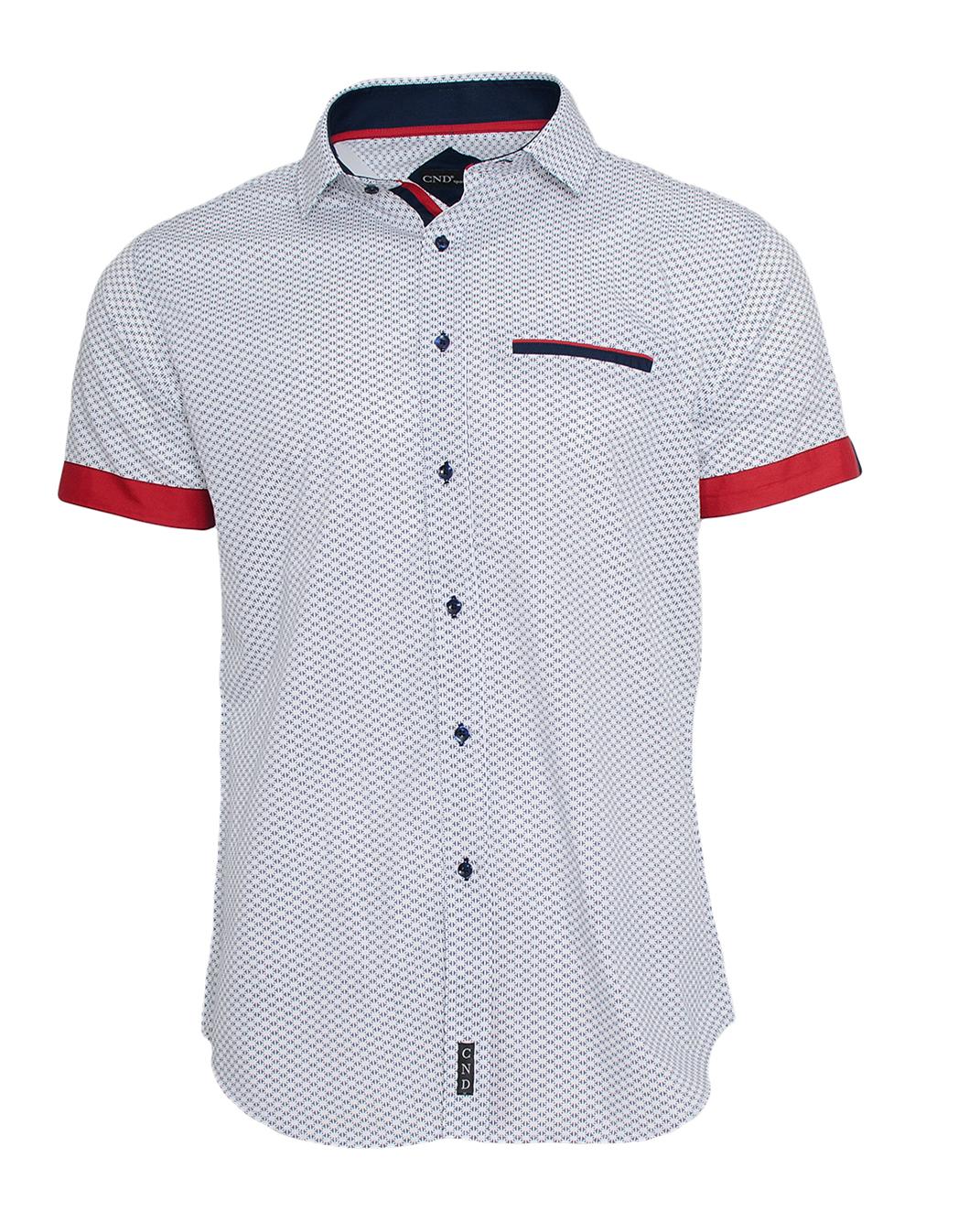 Κοντομάνικο Πουκάμισο CND Red Blue-Άσπρο αρχική ανδρικά ρούχα πουκάμισα