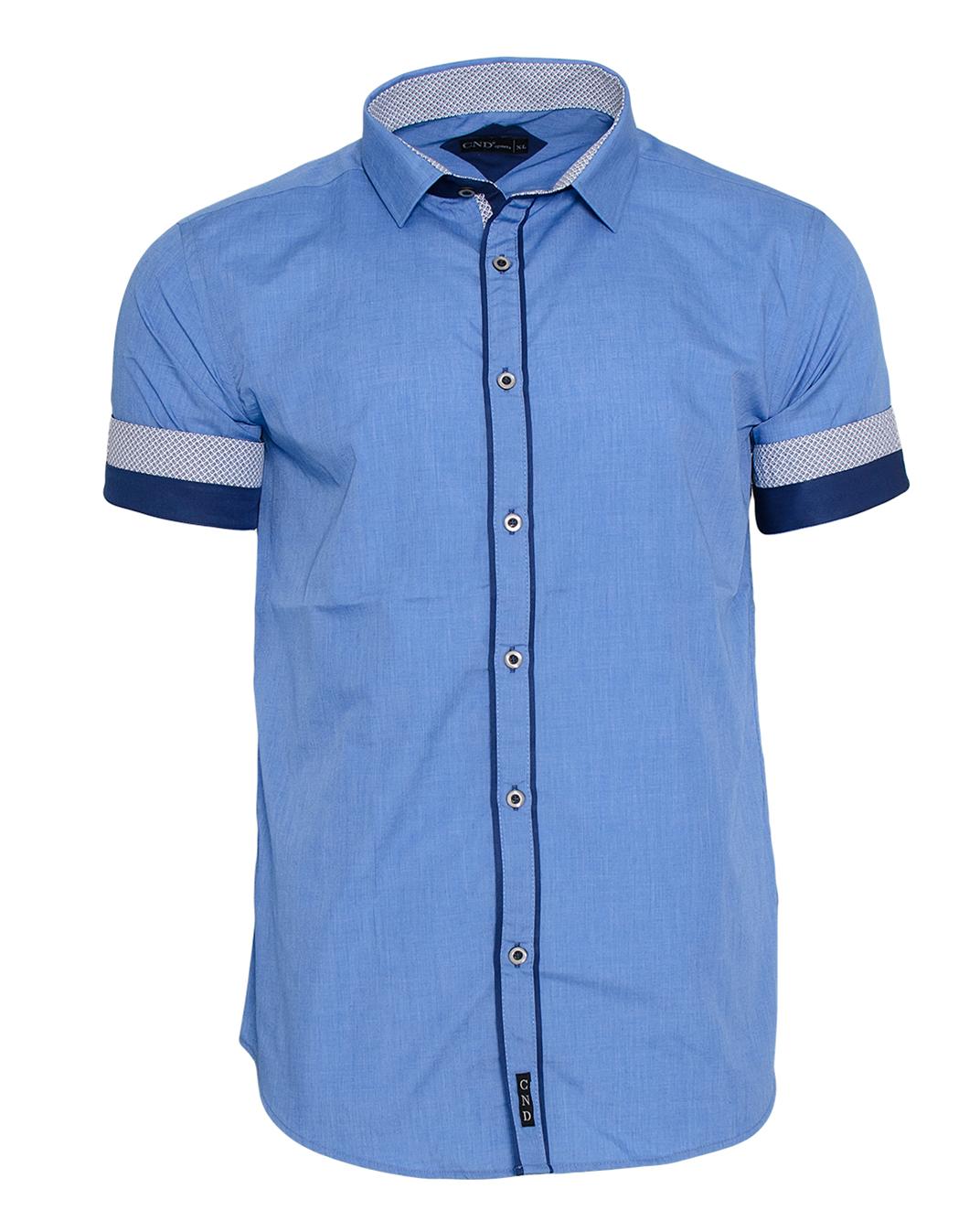 Κοντομάνικο Πουκάμισο CND Blue-Μπλε αρχική ανδρικά ρούχα πουκάμισα