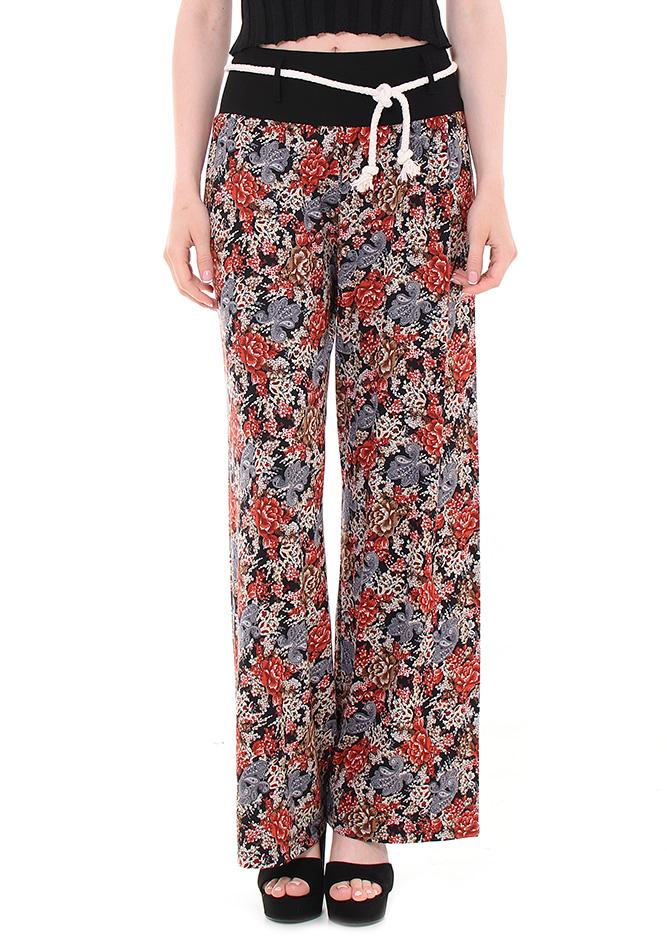 Παντελόνα Flowers αρχική γυναικεία ρούχα παντελόνια