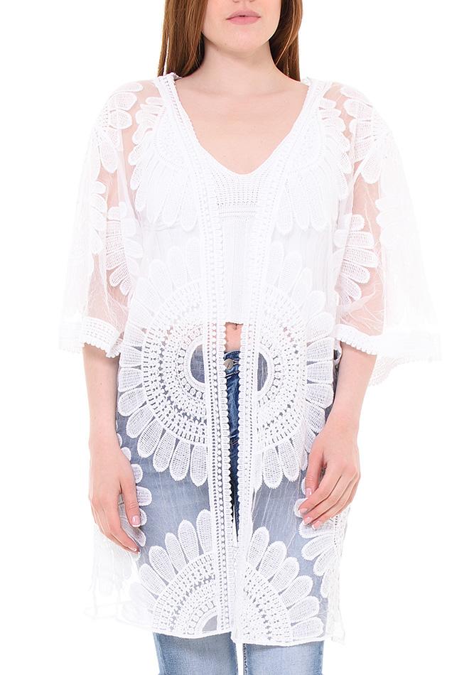 Κιμονό Beauty White αρχική γυναικεία ρούχα ζακέτες   κιμονό