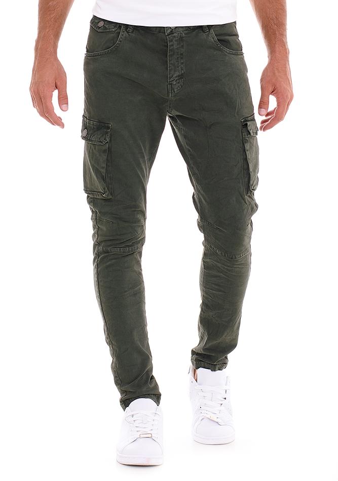 Ανδρικό Chino Παντελόνι Overall Olive Green αρχική άντρας παντελόνια chinos   cargos