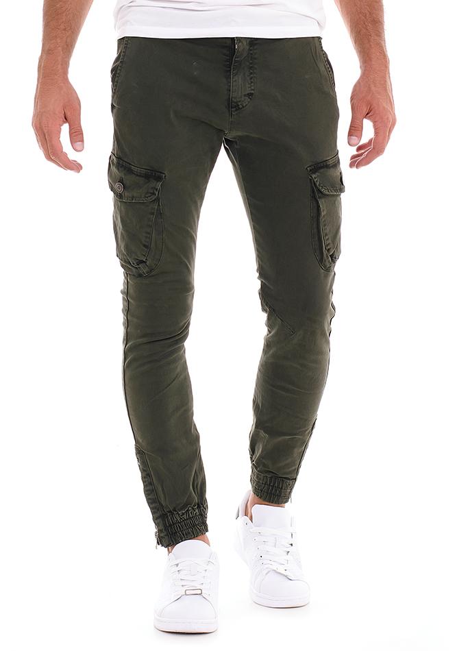 Ανδρικό Chino Παντελόνι Piece Olive Green αρχική ανδρικά ρούχα επιλογή ανά προϊόν παντελόνια παντελόνια chinos