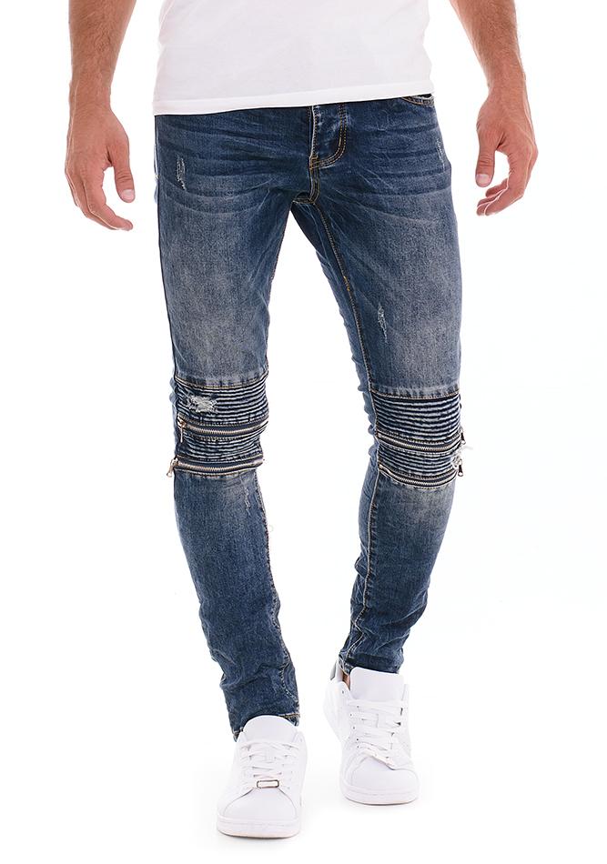Ανδρικό Jean Zipper Knees αρχική ανδρικά ρούχα επιλογή ανά προϊόν παντελόνια παντελόνια jeans