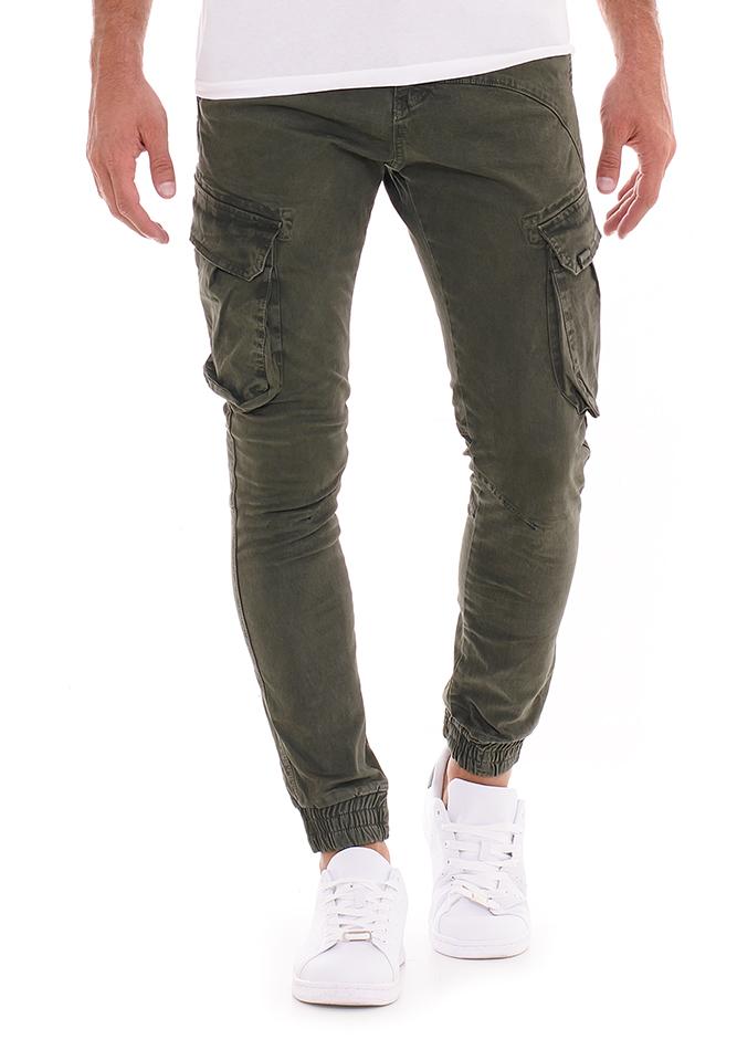 Ανδρικό Chino Παντελόνι Please Olive Green αρχική ανδρικά ρούχα επιλογή ανά προϊόν παντελόνια παντελόνια chinos