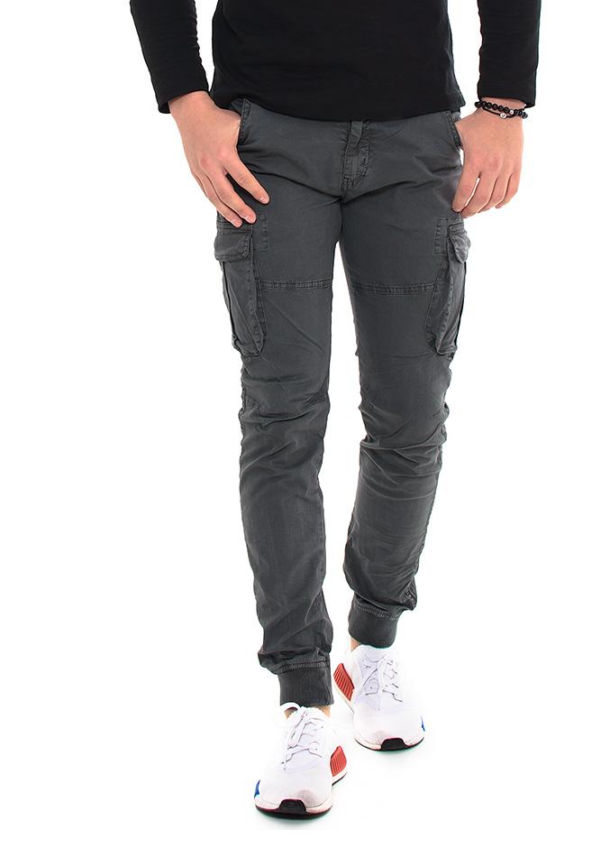 Ανδρικό Chino Παντελόνι Grey Pockets αρχική άντρας παντελόνια chinos   cargos