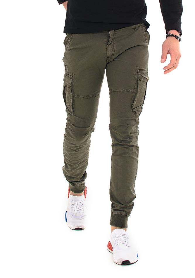 Ανδρικό Chino Παντελόνι Κhaki Pockets αρχική ανδρικά ρούχα επιλογή ανά προϊόν παντελόνια παντελόνια chinos